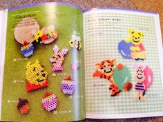 Winnie the Pooh characters perler beads by pomadour24