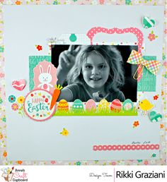 Today we have more Easter scrapping goodness to share from Rikki Graziani as we showcase here creative projects with the fun Easter collection from Echo Park - Celebrate Easter. Head over to the Anna's blog for more on this lovely layout … Now, time to hop to it! ;) We will be back soon with more of Rikki Graziani and her AMAZING Easter projects during the lead up to Easter - you are definitely in for a treat with our next reveal! :) #scrapbooking #fussycutting #echopark #easter #handmade