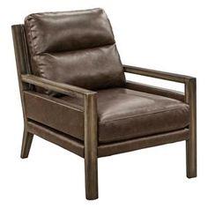 Accent Chair in Medium Wood Finish | Nebraska Furniture Mart