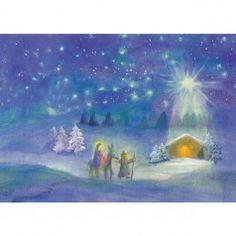 Postkaart Van de stal naar Bethlehem (Dorothea Schmidt)
