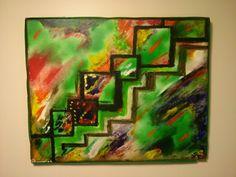 """Stairway"" oil on canvas unframed $75"