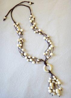 Maui, acai seed necklace