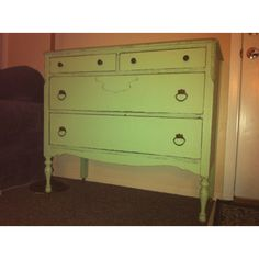 Antique dresser - painted green