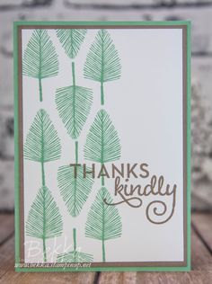 Make In A Moment Thank You Card With The New Totally Trees Stamp Set from Stampin' Up!