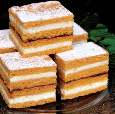 Dulciuri Archives - Page 6 of 244 - Gospodina. Cake Bars, Dessert Bars, Romanian Food, Desert Recipes, Vanilla Cake, Delicious Desserts, Deserts, Good Food, Food And Drink