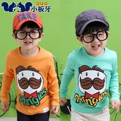 2013 autumn korean version of the new autumn childrens clothing childrens cartoon printed baby boy long-sleeved t-shirt bottoming shirt 6743 only $7.37USD a Piece
