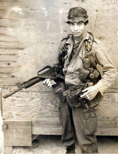 Montagnard man from North Vietnam who was part of a MACV-SOG team. ~ Vietnam War