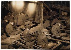 Mineurs à Lancaster, Pittston, Pennsylvanie