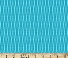 Turquoise Pin Dot Fabric  100 Percent by EllaClariseBoutique