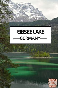 Eibsee in Garmisch Partenkirchen, Germany - this lake has so many shades of green, it is beautiful! - Click to open the guide with many photos and detailed information to plan your visit