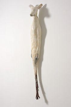 """Oh Deer"" - Jane Rosen - Sculpture - Mei Mei Series, 2007 Sculpture Art, Sculptures, Sculpture Ideas, Deer Art, Ceramic Figures, Majestic Animals, Oh Deer, Stone Carving, Installation Art"