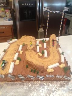 Motocross track cake