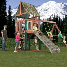 Swing-N-Slide Huntsman Wood Swing Set