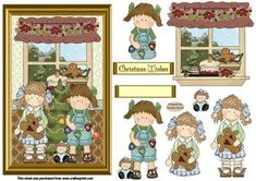 Decorating the christmas tree decoupage on Craftsuprint designed by Sandra Carlse - A lovely decoupage christmas card front. There are all the decoupage elements on this sheet for you to be able to make up this card front. There are also 2 banners. Thank you for showing an interest in my design. Please click on my name above to view more of my designs which include 3d stepper card kits, vintage christmas decoupage cards plus many more. - Now available for download!