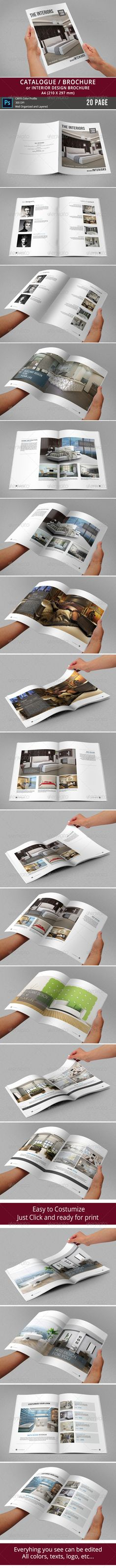 This 20 page minimal brochure template is for designers working on interior design catalogues, product catalogues, product/graphic