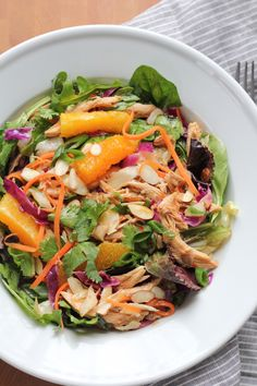 The BEST Chinese Chicken Salad you will ever make! All the great flavor of a traditional Chinese Chicken Salad and loaded with fresh ingredients, you have to try this!