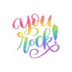 Silhouette Design Store: Rainbow-style You Rock! - rainbow-style you rock! Happy Quotes, Positive Quotes, Me Quotes, Motivational Quotes, Inspirational Quotes, You Rock Quotes, Quotes To Live By, Silhouette Design, Rainbow Quote