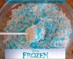 Disney's Frozen Inspired Snowball Marshmallow Pops #Recipe