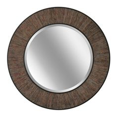 Bought TWO for the bedroom.  LOVE how they look!    allen   roth�32-in x 32-in Weathered Wood Round Framed Wall Mirror