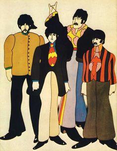 Beatles Poster, Beatles Art, John Lennon Beatles, George Harrison, Ringo Starr, John Lennon Paul Mccartney, Gothic Castle, The Fab Four, Yellow Submarine