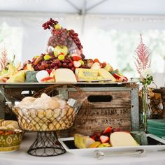 gorgeous food display | photo by Kelly Benvenuto Photography