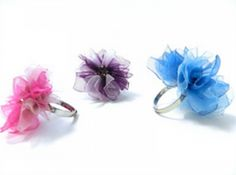 Bowdabra Blog Flower Rings - featured today in the Crafty Showcase