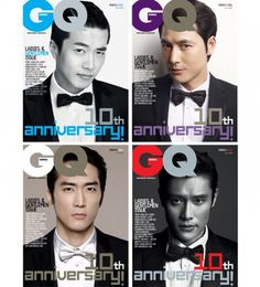"Lee Byung Hun, Kwon Sang Woo, Jung Woo Sung & Song Seung Hun photo spreads for ""GQ Korea"""