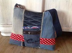 """Schultertaschen - Jeanstasche """" FADENREICH-elt """" - ein Designerstück von FADENREICH-elt bei DaWanda"""