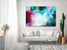 Original XXL abstract fine art modern painting colorful art