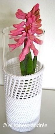 Crochet Vase Cover tutorial.