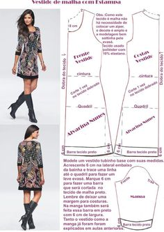 Costura e Modelagem Sewing Pants, Sewing Clothes, Diy Clothes, Fashion Sewing, Diy Fashion, Ideias Fashion, Dress Sewing Patterns, Clothing Patterns, Costura Fashion