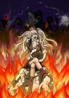 WARNING: if you haven't watched all the anime this is spoiler-Enoshima Junko:The matermind-Super Duper Highschool Despair Danganronpa Junko, Super Danganronpa, Danganronpa Memes, Danganronpa Characters, Anime Characters, Asuna, Zoro, Dibujos Anime Chibi, Danganronpa Trigger Happy Havoc