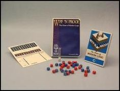 WFF 'N PROOF: The Game of Modern Logic  I ordered a copy of this when we lived in Sri Lanka. It never arrived.