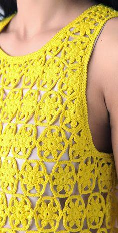 Outstanding Crochet: Crochet Dress from Diane von Fürstenberg with some charts.