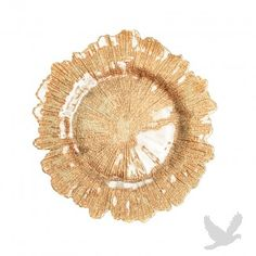 Flora Glass Charger Plates - Gold BULK (4 Plates)