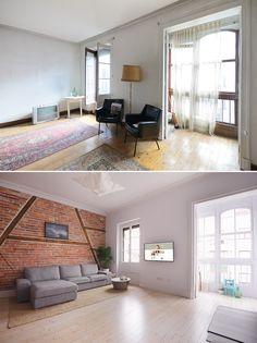 Post: Hogares de nuestros lectores – Guille y Marina en Bilbao ---> antes-después, blog decoración nórdica, casas de verdad, decoración hogares reales, decoración nordica bilbao, hogares lectores, reforma nordica, vigas madera