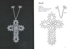 Gallery.ru / Фото #16 - Tatted Bookmarks~cross-shaped - mula