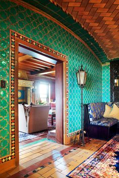The house is a riot of tile, a showcase of Guastavino's own tiles and his construction skills, as well as tiles he collected from Europe.