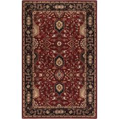 Art of Knot Waldo Hand Tufted Wool Area Rug, 5' x 8', Red