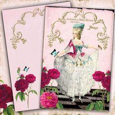 French Note Cards Marie Antoinette Chemise en Dentelle