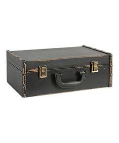 Look what I found on #zulily! Black Suitcase Storage Drawer