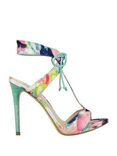 Guess-Alexes Floral-Print Heels