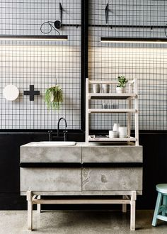 An Industrial interior in concrete and steal | Patch cafe Melbourne