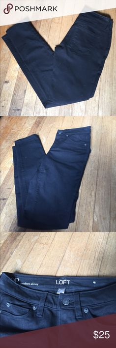 Black 0P Loft Jeans Never worn just took the tag and sticker off. LOFT Jeans Skinny