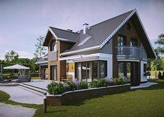 Zdjęcie projektu Herbert - murowana – beton komórkowy KRD2711 Home Building Design, Building A House, House Design, D House, Tiny House, Design Case, House Floor Plans, Home Fashion, Planer
