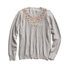 Stitch Fix Fall Stylist Picks: Embroidered neckline sweater