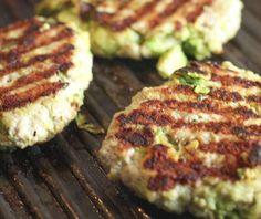 Chicken Avocado Burgers Recipe Main Dishes, Lunch with avocado, black pepper, bread crumbs, chicken, eggs, garlic, salt