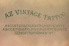 A retro font based on the style of tattoo's from the early diy tattoo - diy tattoo i Diy Tattoo, Tattoo Fonts, Tattoo Ideas, Tattoo Typography, Tattoo Script, Tattoo Designs, Art Designs, Modern Serif Fonts, Tattoo Style