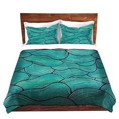 Duvet Covers Premium Woven Twin Queen King from DiaNoche Designs by Pom Graphic Design Unique Cool Fun Funky Artistic Designer Stylish Home Decor and Bedroom Ideas  Sea Waves Pattern -- You can find more details by visiting the image link.