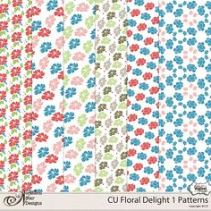 CU Floral Delight 1 Patterns by NSD  @Plaindigitalwrapper